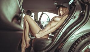 Nude Girl In Car by erotichdworld89