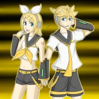Kagamine Rin and Len by J0S3F3R