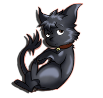 Kuro :3 (try number 2 ) by Blackwolfpaw