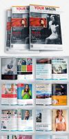 Magazine Template Bundle Vol.6 by Ruthgschultz