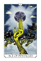 Ace of Pentacles by auryn