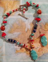 Traveling Turquoise Necklace by Entophile