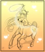 Sailor Venus Centaur - Commish by DarkVanessaLusT