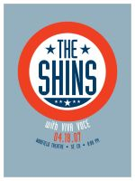 The Shins gig poster by goodmorningvoice