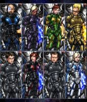 Mass Effect Sample Shepards 1 by AdamWithers