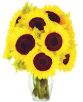 Sunflower bouquet painted with Watercolors by jeanicebartzen27