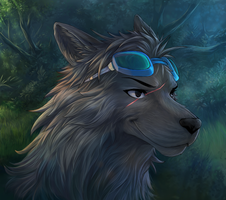 ShadowNightclaw's portrait commission by Soreiya