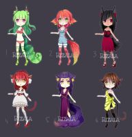 [Closed] Fruity Kemonomimi Adopts # 11 by riz-cake-adopts