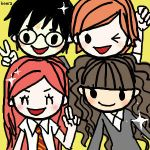 kawaii harry potter characters by keerakeera