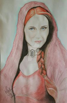 Melisandre the red priestess  by WMageeART