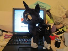 MLP Plushie Filly Luna WIP (commission) by Little-Broy-Peep