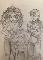 Ron and his Frizzy Haired Family. by DidxSomeonexSayxMad