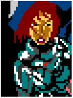 8 bit Shepard from Mass Effect by Number1Exile
