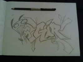 Gir graffiti sketch by k13pt0
