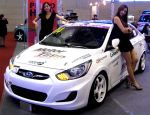 Lovely Ladies with Accent Race Car by toyonda