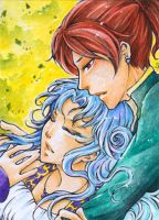 Aceo - Dante and Aurora by cross-works