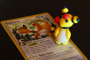 Clay Ampharos by EllieBracha