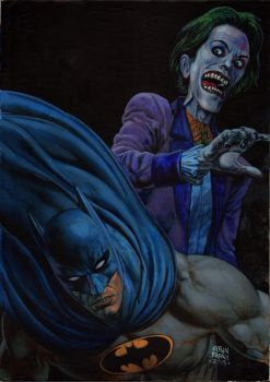 Batman  joker commission piece by GlennFabry