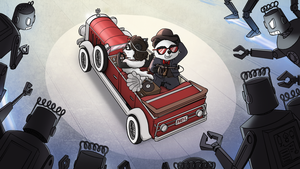 Funky Panda Youtube art - Electro Swing Month by petirep
