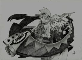Soul and Maka by 8Angie8