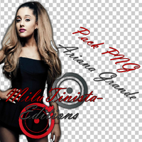 Pack PNG Ariana Grande by MiluTinista-Editions