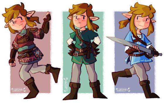 Breath of the Wild Link Doodles by Chromel
