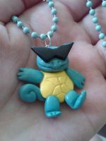 Punk Squirtle Charm Necklace by nemuineko85