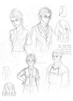 Aveyond Academy version 2 sketches by AngelERenoir