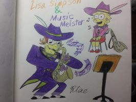Lisa Simpson and Music Meister! by komi114