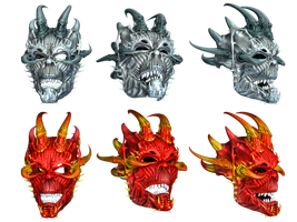 Masks PNG Stock by Roys-Art