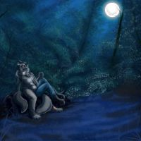 Moonlight Beer night by Tassy