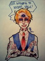 Cecil broadcasting live from Night Vale by stitchesnumberedby17