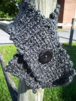 Crocheted Button Scarf by MirabellaTook