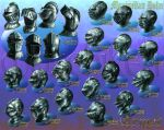 Medieval Helms 4.25 -Color by monchiken