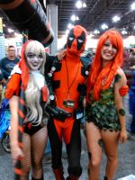 Deadpool Harley and Poison Ivy by Deadfish-Comics