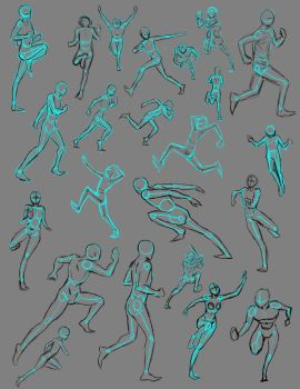 Running Poses by THEAltimate