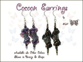 Cocoon Earrings by GoodQuillHunting