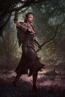 Forest Huntress by JandrewArt