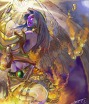 Angel summonning flames by chrono75