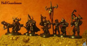 Hell Guardsmen Squad by Proiteus