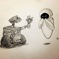 Wall-e And Eve by sebcol92