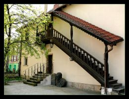 One of The Courtyards Of Cracow by skarzynscy