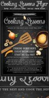 Cooking Lessons Flyer Template v2 by Hotpindesigns