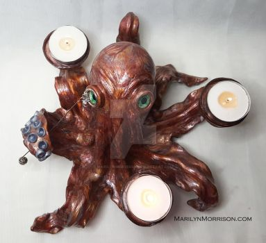 Candle Holder Octopus by MarilynMorrison