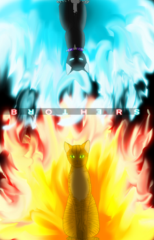 Brothers ~Firestar and Scourge~  (HAS SPEEDPAINT!) by Shatterwing123