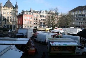 view in Aachen to market 2 by ingeline-art
