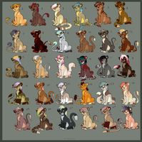 30 big cat Adoptables -POINTS AND MONEY- by Kitchiki