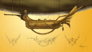 Steampunk Zeppelin by Kimagu
