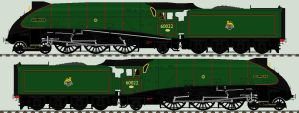 LNER A4 liveries - 60022 'Mallard by 2509-Silverlink