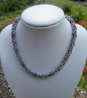 Multicoloured byzantine necklace by TerraNovaJewels